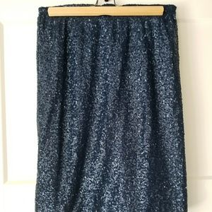 Navy Sequin Pencil Skirt by Modcloth