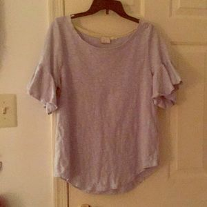 Periwinkle Anthropologie flared sleeve shirt
