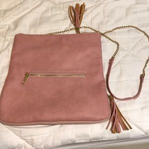 Pink clutch/Crossbody purse. From a local boutique