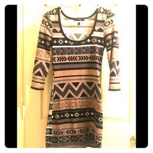 Women's long sleeve mini dress