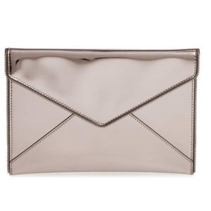 Rebecca Minkoff Metalic Envelope Clutch