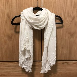 White Cream knit scarf