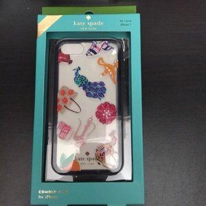 Kate spade jeweled peacock iPhone 7 case