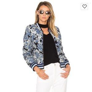 Reversible blanknyc floral bomber jacket