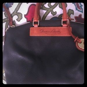 Very Nice pebbled black leather Dooney & Bourke