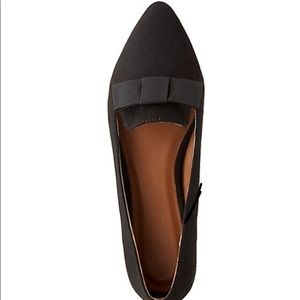 2fcdcad52e72 ... Flat Black Pointed Toe Loafer ...