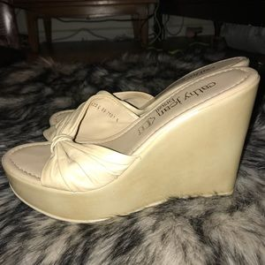 kathy jean Shoes - Cream colored Kathy jean wedges