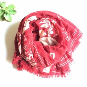 Madewell Springtail Farm Red Wool Scarf