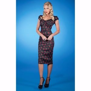 STOP STARING! Cherry & Polka Dot Pinup Dress