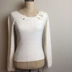Anthropologie ribbon/Patel sequined sweater