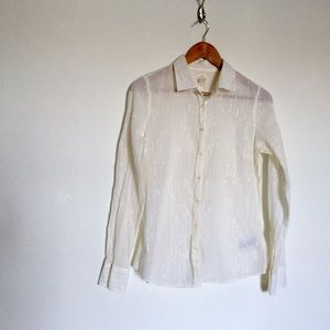 J. Crew Perfect Shirt Cream Button Down