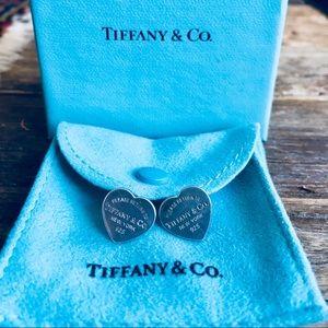 Size medium Tiffany and Co. Heart Tag Earrings