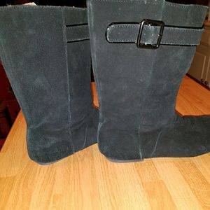 GAP Black suede leather boots..