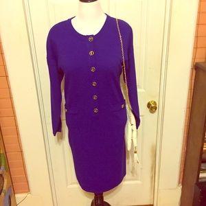 RARE Vintage Ellen Ashley Purple Sweater Dress