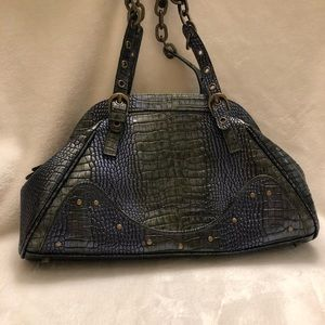 Authentic Charlie Lapson - croc embossed leather