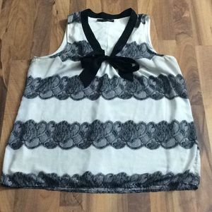 Maurices 1 Size 1X Black Lace Sexy Tank Top