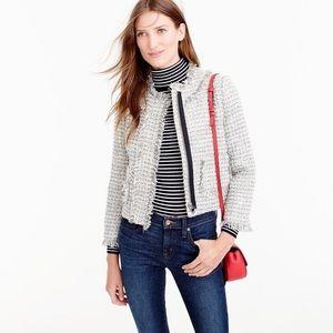 J Crew Wool Lady Jacket Metallic Tweed
