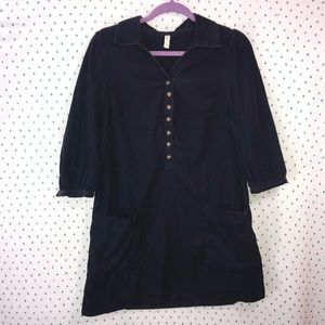 Maeve Anthropologie Dark Blue Mini Corduroy Dress