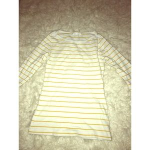 Yellow and White Forever21 Blouse