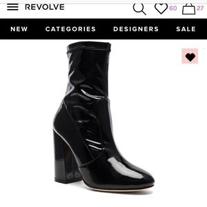 NIB RAYE REVOLVE BOOTIE IN PATENT LEATHER