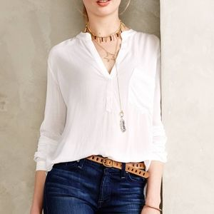 Anthropologie Cloth and Stone 3/4 sleeve henley