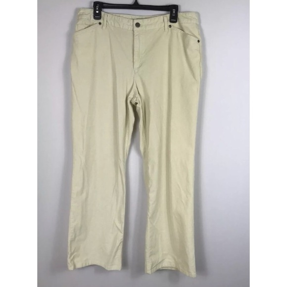 classic value for money hot-selling clearance {J Jill} Solid Cream Tried True Corduroy Pants