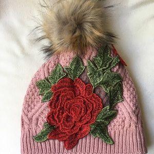 New pink beanie Rose Pom Pom
