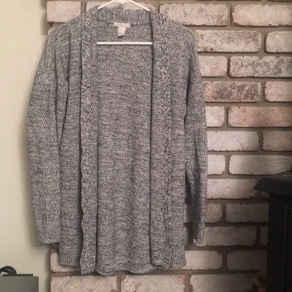 44% off H&M Sweaters - Thick Grey Cardigan from ! katies closet's ...