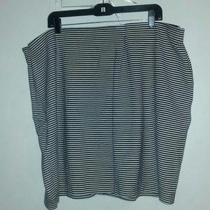 A PLUS SIZE 3x a.n.a. mini striped skirt stretchy