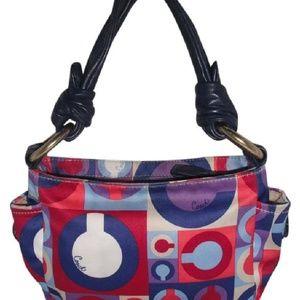 Coach Satin Sateen Optic Logo Shoulder Bag