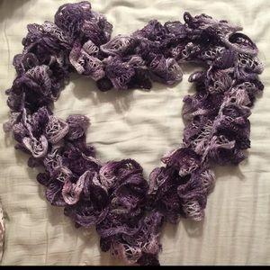 Accessories - Handmade Purple Ruffled Scarf ❤️🍂