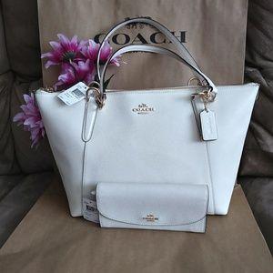 NWT Coach purse tote shoulder bag w/ wallet set