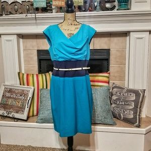 Calvin Klein sheath dress plus size cap sleeve 14