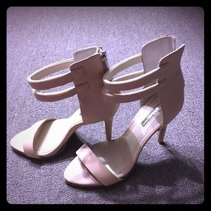 Cream faux leather BCBG heels