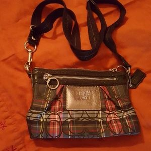 Coach Poppy Tartan Plaid Crossbody