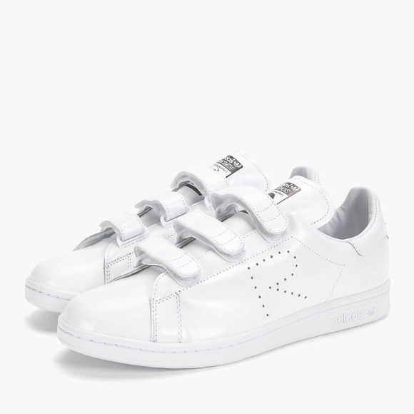 Adidas By Raf Simons Women Stan Smith Strap Leather Sneakers