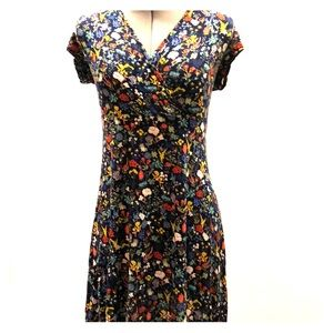 V-neck, Floral Summer Dress