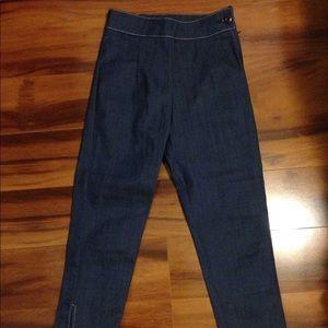 Pants - High Waist Side Zipper Pinup Capris Size Small