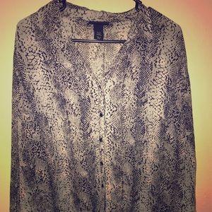 Lane Bryant 18/20 snakeskin print blouse