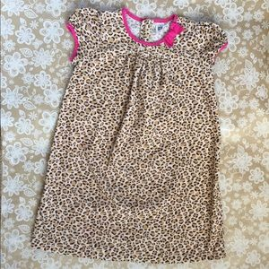 Carter's Cheetah-print Dress with pink accents