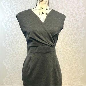 Banana Republic Grey Wool Wrap Dress Size 4