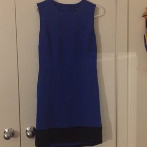 Royal blue open back dress
