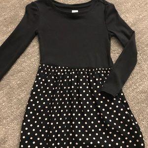 Gap size 4 black dress with polka dots
