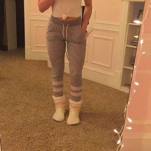 Pants - Grey laced joggers