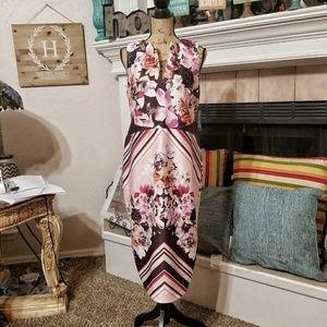 NY&C floral print sheath dress Size Large NWT