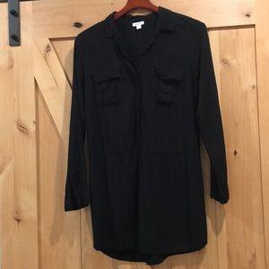 Splendid T-shirt dress Black 100% Rayon Medium