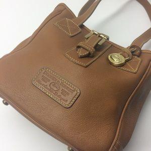 Dooney & Bourke Vintage Tan Leather Bag