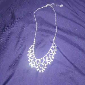 A necklace with rhinestones