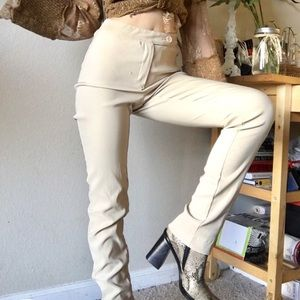 Pants - 80s 90s high waisted straight leg pants