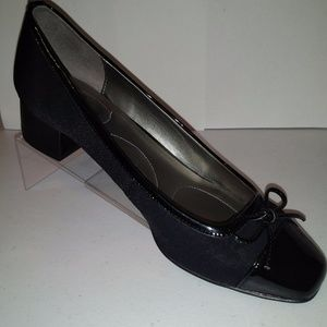 Bandolino Ladies Xenica Textile  Block Heel Black